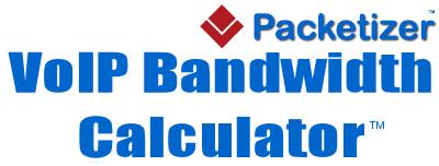 VoIP Bandwidth Calculator - Packetizer